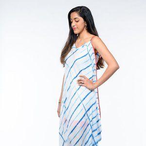 Cowl Neck Shibori Dress